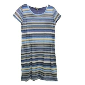 Melissa Paige stripe sheath dress LARGE NWT